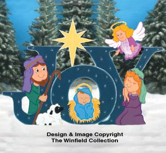 Joy Nativity Woodcrafting Pattern