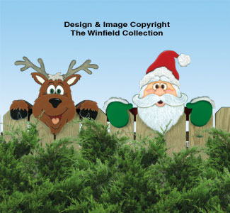 Santa's Watching Fence Peeker Woodcraft Pattern