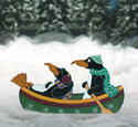 Canoeing Penguins Woodcraft Pattern