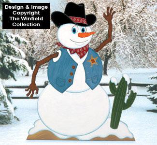 Cowboy Snowman Woodcraft Pattern