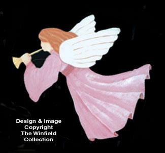Angel W/Golden Horn Woodcraft Pattern