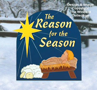 Nativities angels reason for the season woodcraft pattern for Christmas yard signs patterns