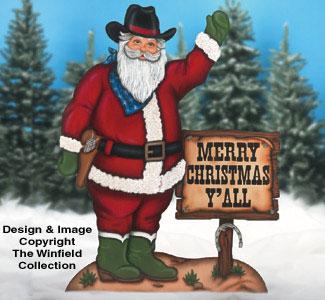 Cowboy Santa II Woodcraft Pattern