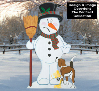 Bad Doggie Snowman Wood Pattern