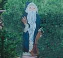Old Santa Holding a Bunny Wood Pattern