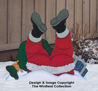 Santa Slip Woodcrafting Pattern