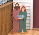 Simple Holy Family Woodcraft Pattern