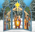 Large 3 Arch Nativity Woodcraft Pattern