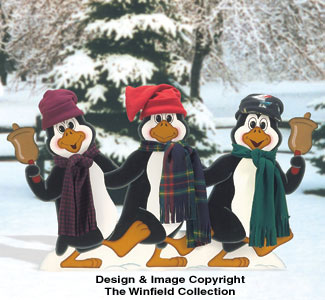 Penguin Kickline Woodcrafting Pattern