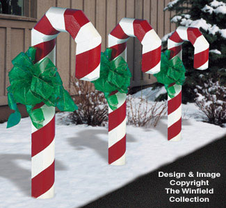 All Christmas Landscape Timber Candy Cane Plans