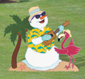 Tropical Snowman Woodcraft Pattern