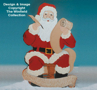 Santa With List Woodcraft Pattern