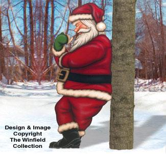 Leaning Santa Woodcrafting Pattern