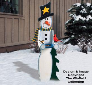 Snowman Birdfeeder Woodcraft Pattern