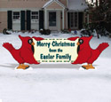 Cardinal Holiday Greeting Wood Pattern
