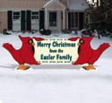 Cardinal Holiday Greeting Wood Pattern