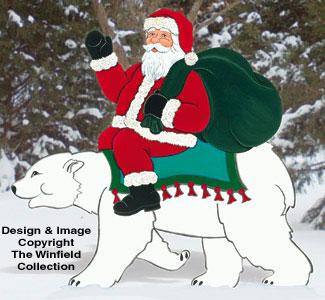 Polar Bear Express Woodcraft Pattern