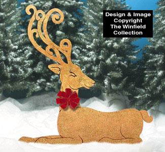Golden Elegant Reindeer Wood Pattern