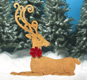Golden Elegant Reindeer Wood Pattern