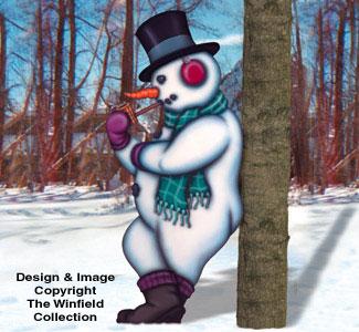 Leaning Snowman Woodcraft Pattern