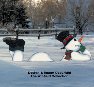 Lazy Yard Snowman Woodcraft Pattern