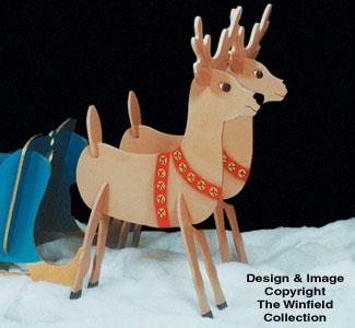 Take Apart Reindeer Woodcraft Pattern