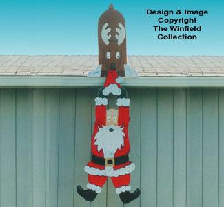 Falling Santa Woodcraft Pattern