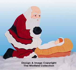 Santa & Baby Jesus Woodcraft Pattern
