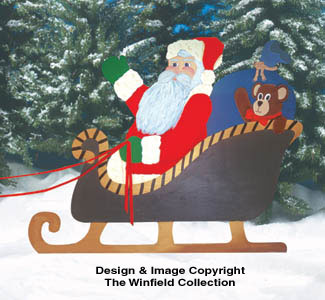 Santa In Sleigh Woodcraft Pattern
