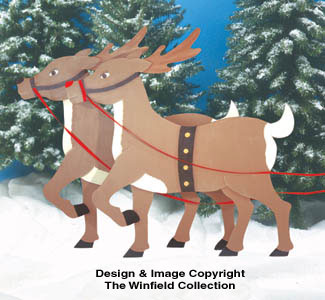 Reindeer Woodcrafting Pattern