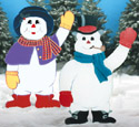 Snow Couple Woodcrafting Pattern