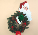 Santa Wreath Holder Wood Pattern