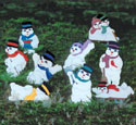 Playful Snowmen Woodcraft Pattern