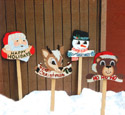 4 Christmas Signs Woodcraft Pattern