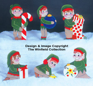 6 Helpful Elves Woodcraft Pattern