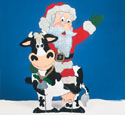 Santa Riding Cow Woodcraft Pattern
