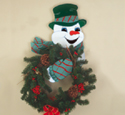 Snowman Wreath Holder Wood Pattern