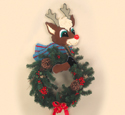 Reindeer Wreath Holder Wood Pattern
