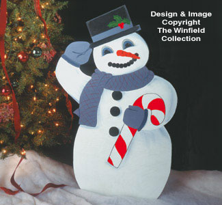 Snowman Woodcrafting Pattern