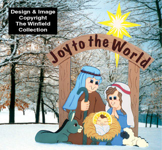Joy To the World Nativity Wood Pattern
