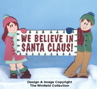 We Believe Christmas Sign Pattern