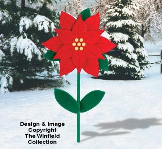 Yard Poinsettia Woodcraft Pattern