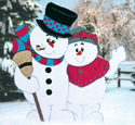 Snowy Hug Woodcrafting Pattern