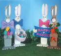 Easter Bunnies Woodcraft Pattern