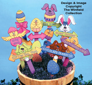 Egg Hunt Markers Woodcraft Pattern