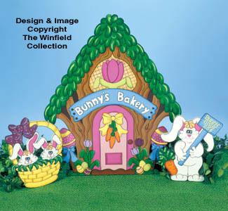 Bunny's Bakery Woodcraft Pattern