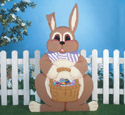 Easter Rabbit with Basket Woodcraft Pattern