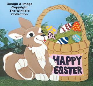 Rabbit & Basket Woodcraft Pattern