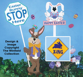 Easter Traffic Signs Woodcraft Pattern