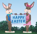 Mr & Mrs Easter Bunny Sign Pattern